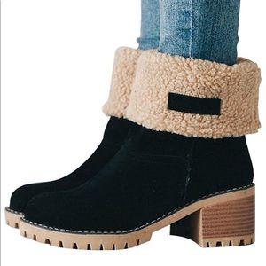 Shoes - Boutique Black suede cold weather boots